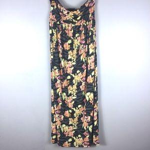 Torrid Neon Floral Print Maxi Dress Size 2X